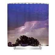 County Line Northern Colorado Lightning Storm Shower Curtain