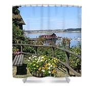 Coupeville Wharf Shower Curtain