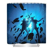 Couple And Fish Shower Curtain