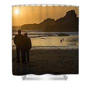 Couple At Harris Beach 0197 Shower Curtain