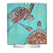 Couple Breathing Shower Curtain