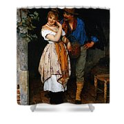 Couple Courting Shower Curtain