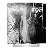 Couple In Doorway Shower Curtain