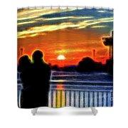 Romantic Sunrise. Shower Curtain