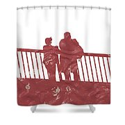 Couple On Bridge Shower Curtain