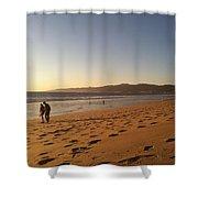 Couple On Venice Beach Shower Curtain