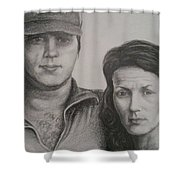 Couple Portrait 2 Shower Curtain