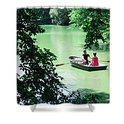 Couple Rowing Shower Curtain