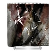 Couple Tango Dance  Shower Curtain
