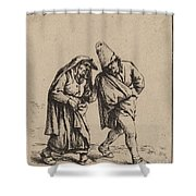 Couple Walking Shower Curtain
