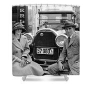 Couple With Their Peerless Car Shower Curtain