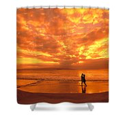 Couples Vacation Shower Curtain
