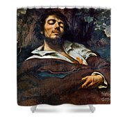 Courbet: Self-portrait Shower Curtain