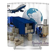 Courier Services Shower Curtain