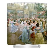 Court Ball At The Hofburg Shower Curtain by Wilhelm Gause