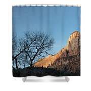 Court Of The Patriarchs Sunrise Zion National Park Shower Curtain