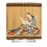 Courtesan Writing A Letter Shower Curtain