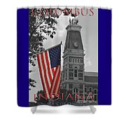 Courthouse In America Shower Curtain