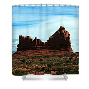 Courthouse Rock In Arches National Park Shower Curtain