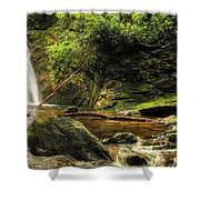 Courthouse Waterfall Shower Curtain
