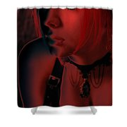 Courtney In Red Shower Curtain