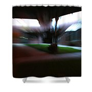 Courtyard At Night Shower Curtain