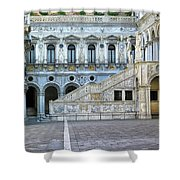 Courtyard At The Doge Palace Shower Curtain