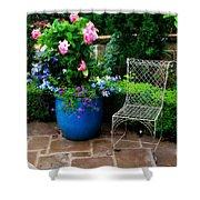 Courtyard Chair Shower Curtain