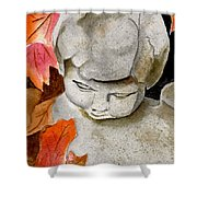 Courtyard Cherub Shower Curtain