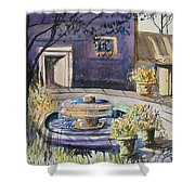 Courtyard In The Morning Shower Curtain