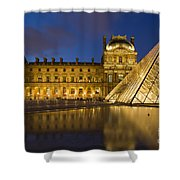 Courtyard Musee Du Louvre - Paris Shower Curtain