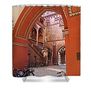 Courtyard Of Basel Town Hall Shower Curtain