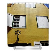 Courtyard Of Curacao Synagogue Mikve Israel-emanuel Shower Curtain