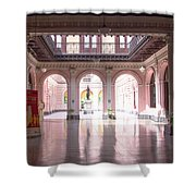 Courtyard Of The Central Post Office, Lima Peru Shower Curtain