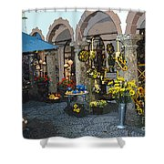 Courtyard Shop Shower Curtain