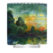 Cove Contento Shower Curtain