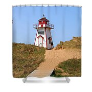 Covehead Harbour Lighthouse 5701 Shower Curtain
