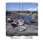 Coverack Harbour Cornwall Shower Curtain