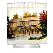 Covered Bridge - Mill Creek Park Shower Curtain