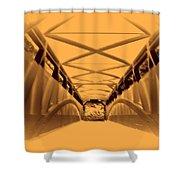 Covered Bridge 3 Shower Curtain