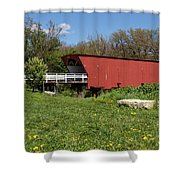 Covered Bridge Across The River Shower Curtain