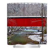Covered Bridge Along The Wissahickon Creek Shower Curtain