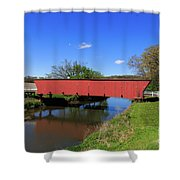 Covered Bridge And Reflection Shower Curtain