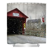 Covered Bridge In Logan Mills Shower Curtain
