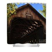 Covered Bridge In Woodstock Shower Curtain