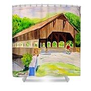 Covered Bridge Shower Curtain