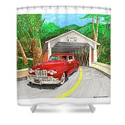 Covered Bridge Lincoln Shower Curtain