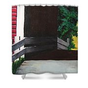 Covered Bridge No.1 Shower Curtain