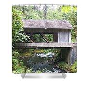 Covered Bridge Of Cedar Creek Shower Curtain