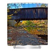 Covered Bridge Over The Cold River Shower Curtain